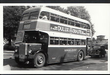 Postcard Size Transport Photograph - Vintage Aldershot Bus   MB860