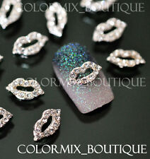 10pcs 3D Nail Art Décorations  Lips Alloy Jewelry Glitter Rhinestone #CA004
