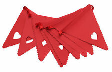 Red Heart Bunting Banner Garland Wedding Party Christening Decoration Free Post