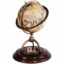 Authentic Models TERRESTRIAL GLOBE WITH COMPASS GL019 Desktop Globe