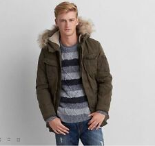 NEW American Eagle AEO AEO Cotton PARKA Jacket Coat Olive Green - $199 - Size L