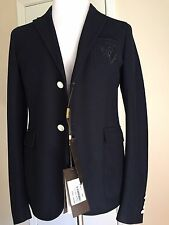 New $1795 Gucci Jersey Coat Jacket, Blazer Blue 38 US ( 48 Eu) Italy