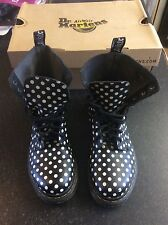 Size 5 Dr Martens Black & White Polka Dot Womens Boots Boxed AirWair Bounce Sole