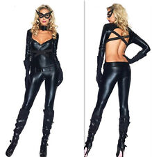 Sexy Da Donna Halloween Fancy Dress Costume Catwoman Leopardata Selvatici Gatto Cosplay