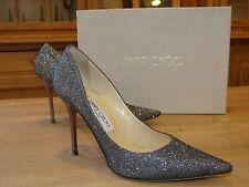 SUPERBES ESCARPINS GRIS ANTHRACITE JIMMY CHOO T I 37 F 38 EN EXCELLENT ETAT