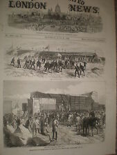 Experiments Shoeburyness on Plymouth Breakwater Target 1868 old prints ref Z1