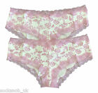 2 pack - womens/ladies ex high street floral cotton briefs knickers Blue / Pink