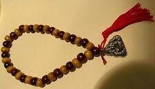 Mens/Women Wooden Prayer Beads Buddha Buddhist Bangle Bracelet  Religion Gift