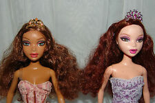 MY SCENE BARBIE DOLLS FACE CHANGING LOT RARE, FAB FACES, MADISON, CHELSEA