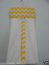 Yellow Chevron Nappy Diaper Stacker 100% Cotton  **Available in 10 Colours**