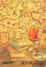 Bonne Annee Candle Books Map Happy New Year