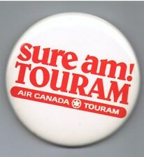 "Air Canada Touram 2.5"" Pinback Button Airline Vacation Advertising Travel Plane"