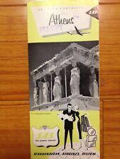 Rare Vtg 1959 SAS City Portraits Athens Greece Scandinavian Airline