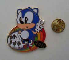 SONIC THE HEDGEHOG TEAM SONIC 2011 G SEGA RARO NUOVO smalto metal pin badge pin