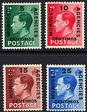 GB Edward VIII Definitives Morocco Agencies Set of 4 Spainish Currency MNH