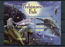 Granadinas Granada 2005 Mnh prehistóricos peces 4v m/s europholis ichthyosaurus