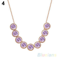 Elegant Womens Jewelry Crystal Pendant Collar Chain Clavicle Necklace Hot Sale!