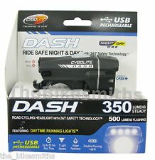 Cygolite Dash 350 Lumens USB Rechargeable Bicycle Bike Front Headlight 7 Modes