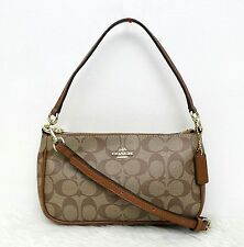 BagToBrag: SALE! Coach Signature Top Handle Pouch Bag Brown/Khaki