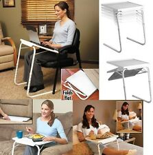NEW TABLE VALET Foldable Folding Adjustable Portable Side Bed TV Laptop Table UK