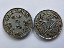 Pièce monnaie MAROC MORROCO 2 francs 1951 état voir scan
