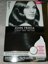 John Frieda Precision Foam Colour 2N Natural Black NEW
