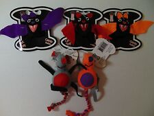 Pet Works Cat Toys with Catnip Halloween Bats Rats Lot of 5 Different Styles 3""