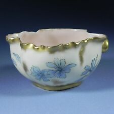 Antique Haviland & Co Limoges France Handled & Footed Bowl Hand Painted 1880's