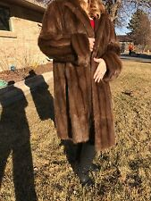 Custom Made VINTAGE Women's Full Length Mink Fur Coat EXCELLENT CONDITION