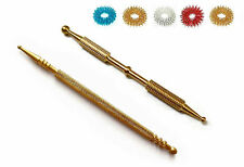 Sujok Acupressure Brass Metal Probe Diagnostic Jimmys (2 Types) + Free 5 Rings