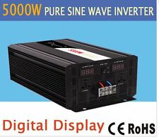 5000W pure sine wave solar power inverter DC 12V 24V 48V to AC 110V 220V digital