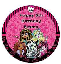 MONSTER High Personalizzata CAKE TOPPER COMMESTIBILI WAFER CARTA 7,5 ""