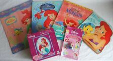 Disney The Little Mermaid Books, Folder, Puzzle and Sticker Stamper Set Lot