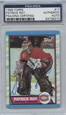 PATRICK ROY SIGNED 1989-90 TOPPS CARD #17 PSA/DNA CERTIFIED 83738373