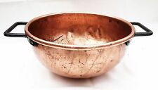 1750 Colonial Federal Antique Primitive Folk Art Decor Collectible Copper Bowl