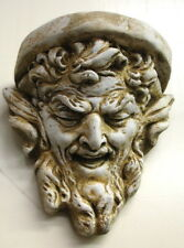 Pan Mythical Gothic Art Wall Sconce Shelf Gargoyle Plaque 10042