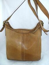 COACH 9325 USED/WORN OUT/BAD CONDITION TAN LEATHER CROSSBODY/SHOULDER/DUFFEL BAG