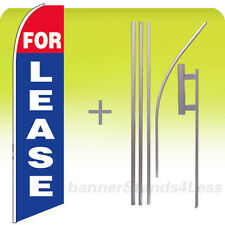 Feather Swooper Flutter Tall Banner Sign Flag 15' Kit - FOR LEASE bb