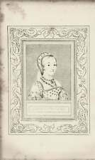 1835 Engraved Portrait Catharine Howard G Cooke /Holbein