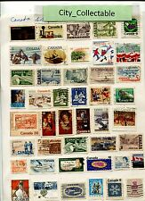 T485 # BULK 44 PCS CANADA USED STAMPS