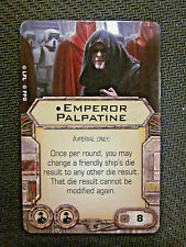 STAR WARS X-WING MINIATURES EMPEROR PALPATINE CREW UPGRADE CARD