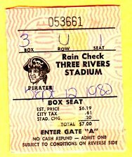 PHILLIES MIKE SCHMIDT HR #347 TICKET STUB-9/12/82 @ PIRATES