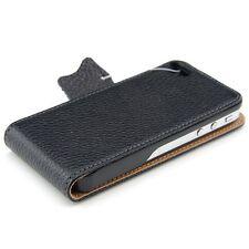kwmobile Flip Schutz Hülle für Apple iPhone 4 4S Schwarz Tasche Kunstleder Flip