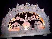 2 D Arc À Lumière À Bougies Seiffen Marché de noël 7 Lampes 57 x 38 cm 10173