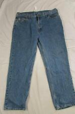 Carhartt B460 LVB Faded Denim Relaxed Fit Work Jeans Measure Size 42x32
