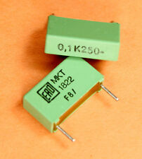 12pcs .1uf 250V 10% MKT1822-410/255 Radial Metallized Polyester Film Capacitors