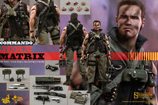 "HOT TOYS Commando JOHN MATRIX 12"" 1/6 Figure Arnold Schwarzenegger Sideshow NEW"