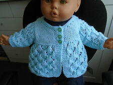 "NEW BABY'S - DOLL MATINEE COAT BLUE CHEST SIZE 14"" LENGTH 10"" SLEEVE 4.50"""