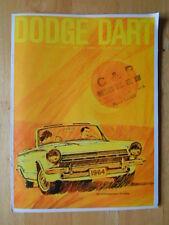 DODGE dart ORIG 1964 USA MKT brochure-GT 170 270 series