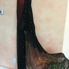 Indian Pakistani designer bridal Chiffon Georgette Sari/Saree black sequin work